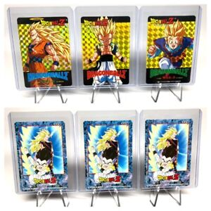 DragonBall Z Hero Collection Series Part 3 Gold WGL Chase Set 3 card Artbox 2001