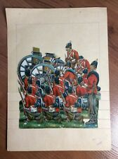 British Soldiers Antique Die Cut Paper Doll Sheet Hussars Raphael Tuck Canon