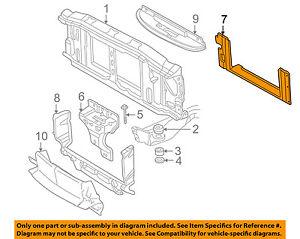 GM OEM Radiator Support-Air Baffle Duct Deflector 15749195