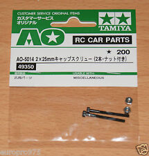 Tamiya 49350/9805669 2x25mm Cap Screw w/Nut (2 Pcs.) (DB01/DF03/TRF501x/TA05)