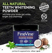 All Natural Teeth Whitening Powder - Natural Activated Coconut Charcoal Powder