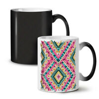 Psychedelic Pattern NEW Colour Changing Tea Coffee Mug 11 oz | Wellcoda