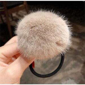 Women Imitation Rabbit Fur Elastic Hair Rubber Bands Plush Hair Rope Candy Color