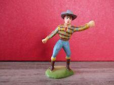 FIGURINE PLASTIQUE CLAIRET - COW BOY AVEC LE N° 304 SOUS LE SOCLE