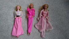 Muñecas Barbie X 3-Vintage Circa Principios 1980s Plus Ropa Y Accesorios