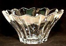 Block Bowl Full Lead Crystal Madison Heavy Glass Czech Republic Centerpiece