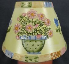 Yankee Candle Medium/Large Jar Shade Flower Pots Pink Blue Yellow