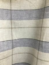 Blue Plaid 100% Linen Fabric (60 in.) Sold By The Yard