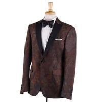 NWT $2250 ETRO Paisley Jacquard Print Wool-Blend Tuxedo Blazer 38 R Sport Coat