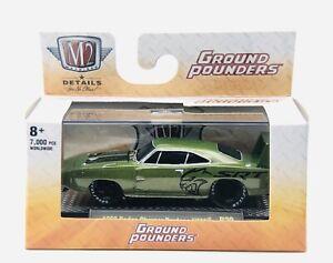 M2 Machines 1969 Dodge Charger Daytona SRT Hemi Ground Pounders R20 1:64