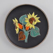 Ruscha #71710 muro plato-Girasol-Vintage-cerámica - Sunflower plate