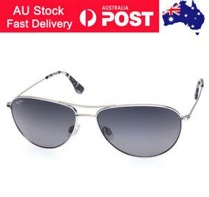 Sale! Maui Jim Sea House Polarized Sunglasses Silver / Neutral Grey LENS