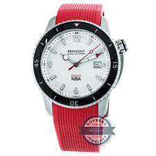 Bremont Oracle I Auto 43mm Steel Mens Red Strap Watch Date S500 Oracle I