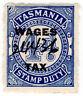 (I.B) Australia - Tasmania Revenue : Wages Tax 4d (1935)