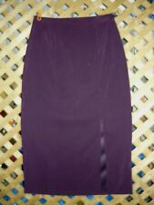 Fashion Bug Long Purple Stretch Polyester Skirt Size 16 NEW!