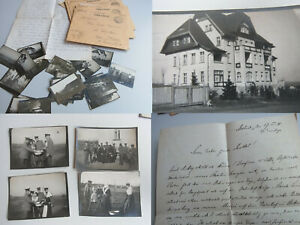 10 Fp-Briefe & 22 Photos 1918 From Res Hospital Bad Altheide,Feldhilfsarzt Meyer