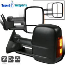 For 1988-1998 GMC C/K Tahoe Suburban LED Signal+Towing side Telescopic Mirrors