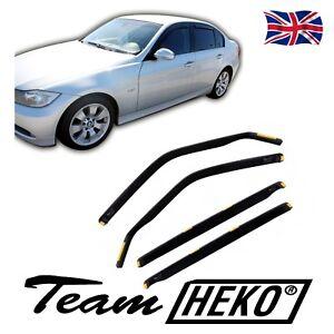 BMW 3 E90 SALOON 4 DOOR 2005-2012 SUN SHADE + WIND DEFLECTORS 4pcs HEKO TINTED