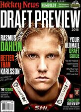 Hockey News Magazine May 28, 2018 Draft Preview RASMUS DAHLIN