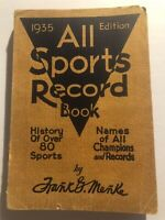 1935 ALL SPORT Record Book JACK DEMPSEY Lou GEHRIG Babe RUTH Archery to Yachting