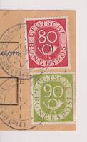 BUND, Mi. 137/38 auf Paketkartenabschnitt, Bielefeld, 2.11.54