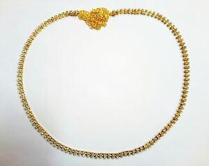 Golden 2 Line Belly Dance Hip Chain CZ Waist Belt Kamar Bandh New Indian Jewelry
