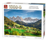 1000 Piece Landscape Jigsaw Puzzle Funes Valley Tyrol Italy Mountains 05708