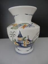ROANNE, Vase en Faïence, copie de vieux Roanne, par M. Le Gaillard (MOF)