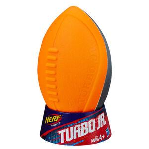 Nerf Sports Turbo Jr. Football New in Package Orange & Gray Ball Hasbro