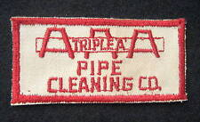 "AAA PIPE CLEANING EMBROIDERED SEW ON PATCH TRIPLE A COMPANY ADVERTISING 4"" x 2"""