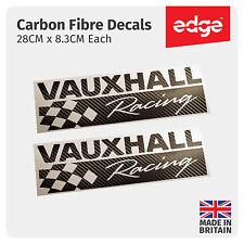 2 x vauxhall racing fibre de carbone autocollant vinyle porte jupe fenêtre sticker vxr
