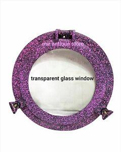 12'' Handmade Ship Porthole Glass Antique Finish Ship wrecked Premium Aluminum