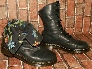 Dr.Martens TRIUMPH AIMILITA fold down leather boots tropical lining uk 6 Doc#231