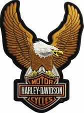 HARLEY DAVIDSON HD EAGLE UPWING LOGO EMBROIDERY PATCH EMBLEM SHIELD AUTHENTI