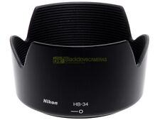 Nikon paraluce HB-34 x Nikkor AF-S zoom 55/200mm. f4-5,6 G. Nuovo, originale.