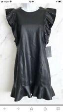 Zara Faux Leather Dress With Studs  Size XS