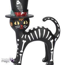 Nemesis Now Black Cat in a Hat Fish Bones Gothic Seuss Gift Sugar Kitty Figurine