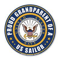Round Magnet - Proud Grandparent of a US Sailor - USN United States Navy