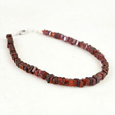 Exclusive 73.00 Cts Earth Mined Untreated Red Garnet Beads Bracelet - Hand Made