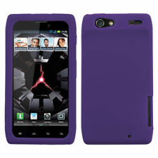 Dark Purple Rubber SILICONE Skin Gel Case Phone Cover Motorola DROID RAZR MAXX