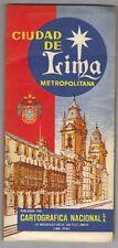 "Vintage 1985 LIMA  PERU Street  Map CARTOGRAFICA NACIONAL 35"" x 25""  FULL COLOR"