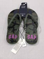 Gap Sandals Womens Size:7 Red Green Camouflaged Pink Logo Beach Style FlipFlop