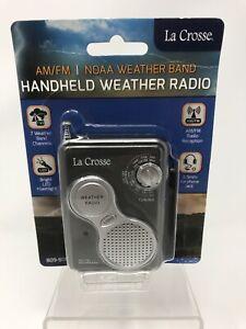 La Crosse Gray  AM/FM NOAA Weather Band Handheld Weather Radio  NIP