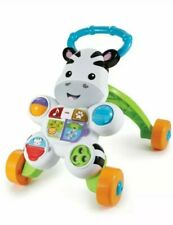 Fisher Price Zebra baby walker educational musical activity toy 6 M +