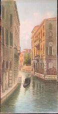 Alberto Trevisan -  Venice - Italy Vintage-Watercolor - Original -6.5 X 13