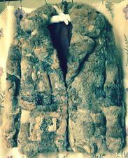 "Vintage Women's 40"" Bust Rabbit Fur Coat Craft Cutter Repair/Wear 2 Clips Front"