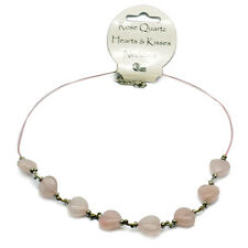 ROSE QUARTZ CUORI & Kisses COLLANA