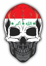 """Skull Flag  Iraq Car Bumper Sticker 4"""" x 5"""""""