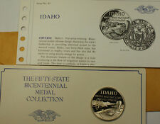 Idaho Water and Nuclear Development Sterling Silver Proof Franklin Mint Medal`