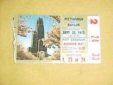 1973 Pitt Panthers v Baylor Bears Football Ticket Tony Dorsett 9/22
